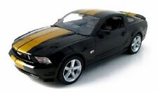 1:18 Scale 2010 Mustang Black with Gold Stripes Hertz Greenlight