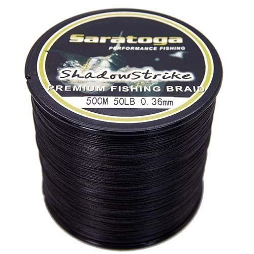 8 Strands Saratoga 100M 300M 500M 1000M  Black PE Dyneema Braided Fishing Line