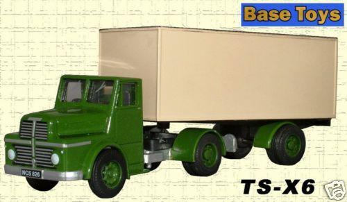Base Toys TS-X6 Thornycroft Sturdy Artic Van 1//76 New Card T48