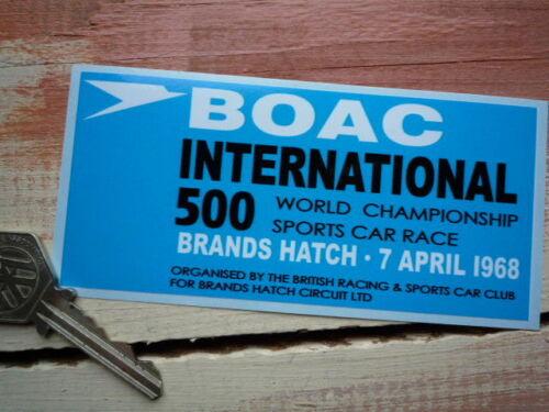 "BRANDS HATCH BOAC International 500 1968 Classic Car Sticker 5/"" Racing Circuit"