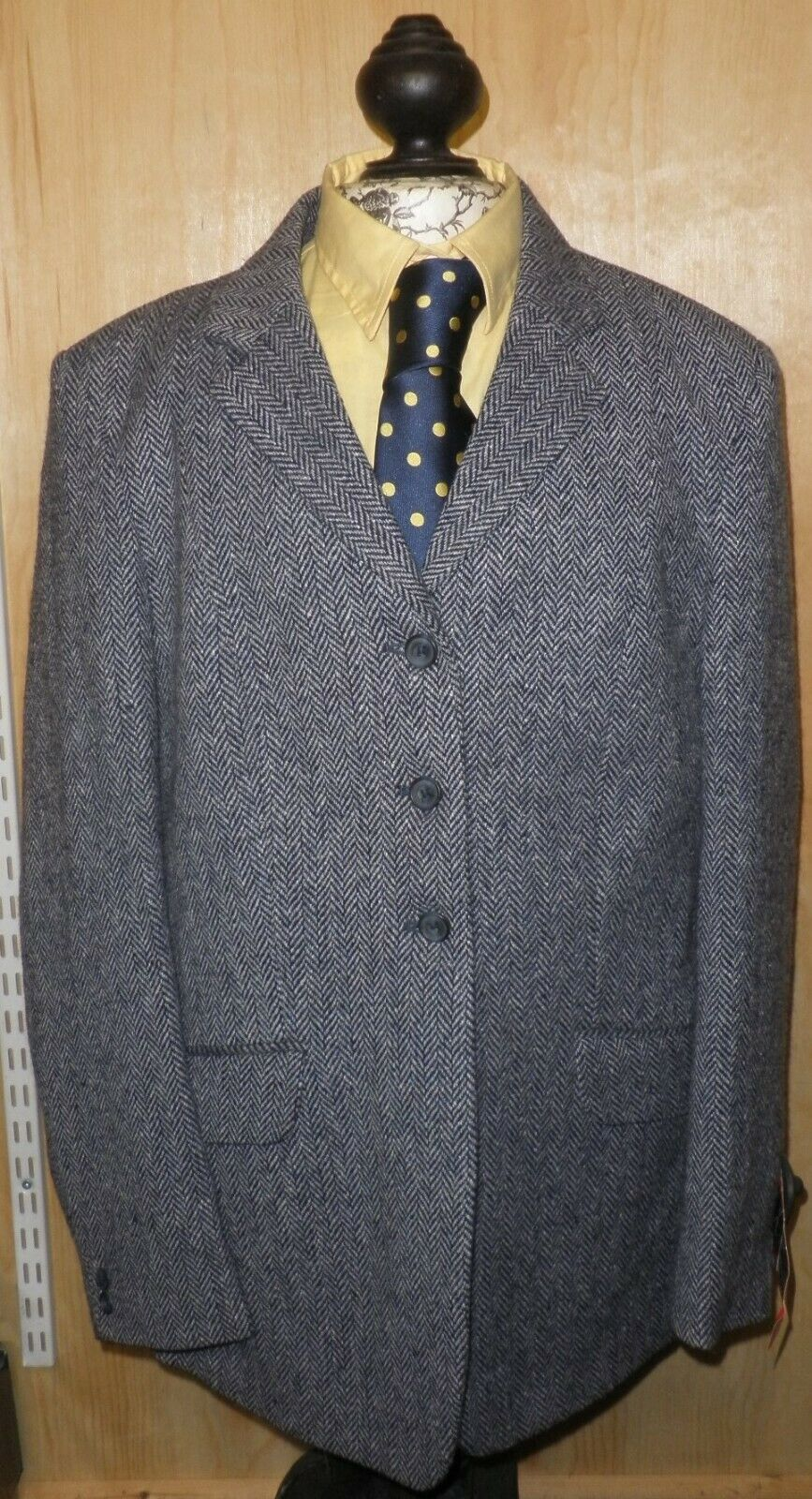 PYTCHLEY Mears Donna Ryedale Navy Giacca di tweed in Taglia 40