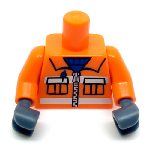 LEGO Orange Construction Worker Body Torso 973pb0263c02