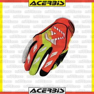 GUANTI-ACERBIS-MX-X1-ARANCIO-GIALLO-MOTO-CROSS-ENDURO-OFF-ROAD-TAGLIA-S