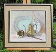 Framed Signed Witold Wisniewski Still Life Oil Painting on Linen