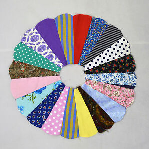 Vintage-Lot-of-27-Quilt-Top-Dresden-Plate-Piece-Circle-Pin-Wheel-Pattern-Patch