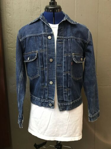 Vtg 50s/60s Levis Type 2 Pleated Denim Jean Jacket