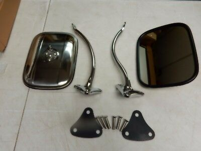 CHEVROLET TRUCK 1955 1956 1957 1958 1959 SIDE MIRROR KIT CHROME EXTERIOR square