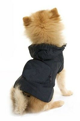 Lightweight Pac A Mac Rain Coat For Dogs Pink Red Black Brown Camo & Large Sizes
