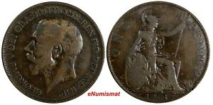 Great-Britain-George-V-1918-H-1-Penny-Ralph-Heaton-amp-Sons-Birmingham-KM-810