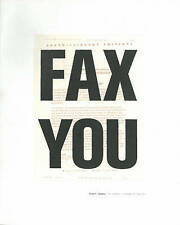 Fax You: Urgent Images: The Graphic Language of the Fax,Liz Farrelly,New Book mo