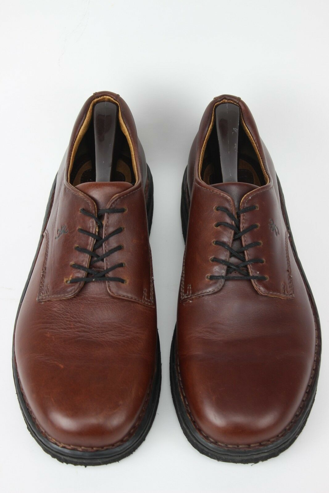 MEN'S BROWNING 5004 COGNAC PEBBLED LEATHER PLAIN TOE WORK OXFORDS SIZE 8.5 M.