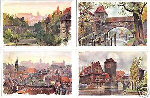 zehn-AK-Nuernberg-verschiedene-Motive-Kuenstlerkarten-um-1906