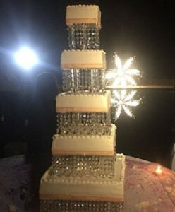 Crystal-cake-stand-wedding-display-glass-chandelier-acrylic-base-cake-stand