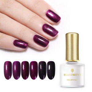 BORN-PRETTY-6ml-Purple-Gel-Nail-Polish-Soak-Off-Nail-Art-UV-Gel-Varnish-6-Colors