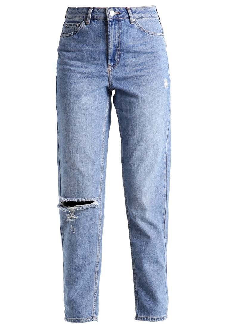 Topshop Donna Jeans TAPERED FIT colore middenim tg. 26 32 a4207
