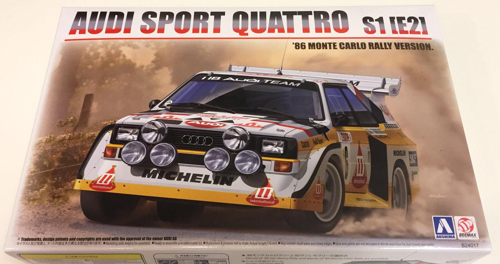 Aoshima audi sport quattro s1 1   24 e2 1986 rallye monte carlo