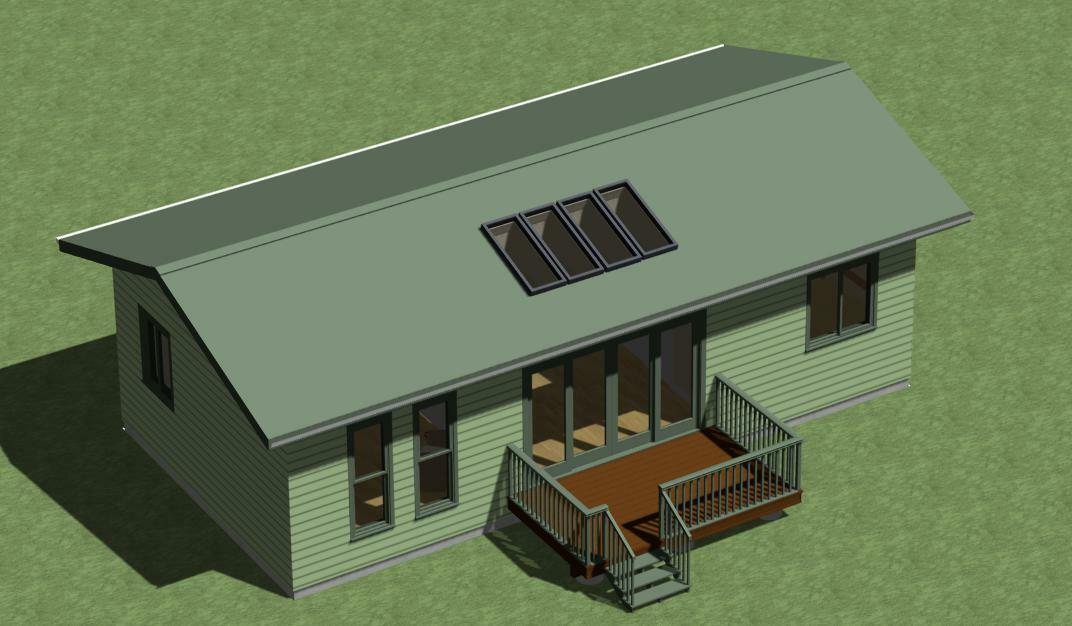 Tiny House Construction Plans Model 648  with Sunroom by Designerswest