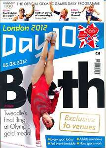 OLYMPIC GAMES DAY 10 TEN DAILY PROGRAMME LONDON 2012