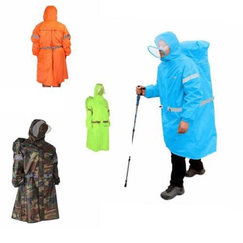 Reflective Rain Poncho Rain Cover Cape Jacket Bluefield Waterproof New Adults CB