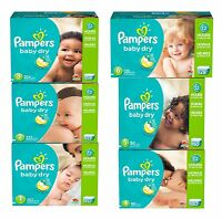 Pampers Baby Dry Disposable Diapers Size 1, 2, 3, 4, 5 & 6 - No Tax