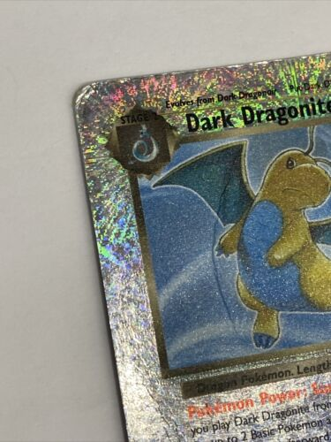 DARK DRAGONITE REVERSE HOLO CARD 5/110 - LEGENDARY COLLECTION - HP CREASES