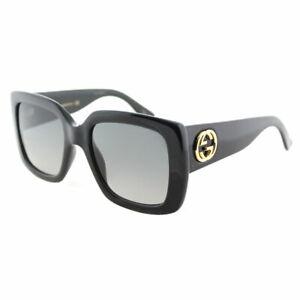 5f759c2100 La foto se está cargando Gucci-GG0141S-001-Brillante-Negro -Gris-Degradado-Lente-