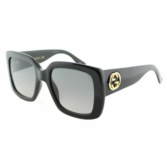 4ba4ed12da9 Gucci Sunglasses Women GG 0141s Black 001 Gg0141s 53mm for sale ...