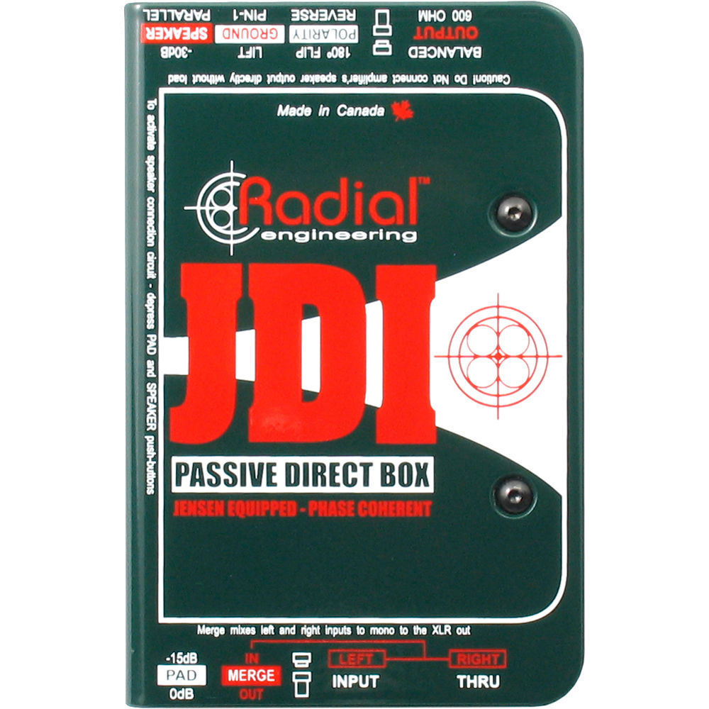 Radial Engineering JDI Passive DI for Acoustic Guitar, Bass & Keyboard New