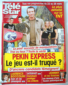 TELE-STAR-du-17-03-2008-Pekin-Express-Laurence-Boccolini-Johnny-Hallyday