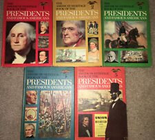 Vintage American Heritage Book of the Presidents/Famous People Vol 1-5 Hardcover
