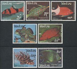 LAOS-N-817-823-Pesce-MOLTO-BUONO-1987-pesce-Sc-820-826-MNH