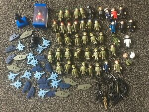 Large-Job-Lot-X-46-Army-amp-Military-Men-Fit-Lego-with-Weapons-Used