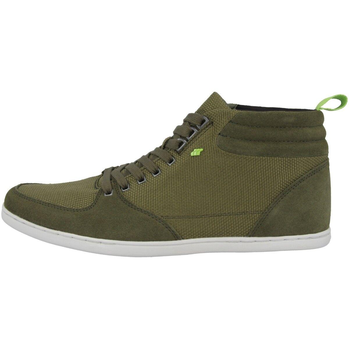 Boxfresh eplett SH BALLISTIC NYLON SUEDE Chaussures Mid Cut Basket kaki e15371