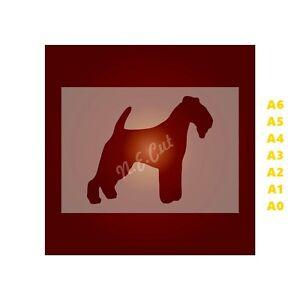 LAKELAND-TERRIER-Dog-Stencil-350-micron-Mylar-not-Hobby-stuff-DOGS078