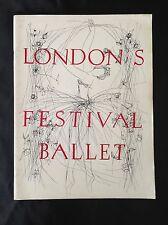 London's Festival Ballet 1959 Program Booklet