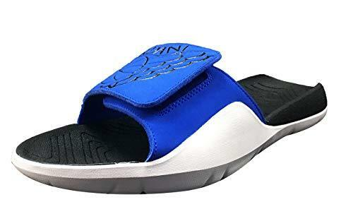 NEW AA2517 400 MEN'S JORDAN HYDRO 7 SANDALS    HYPER ROYAL BLACK-BLACK