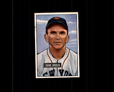 Sports Mem, Cards & Fan Shop Sports Trading Cards 1951 Bowman 90 Dave Koslo Ex #d403204