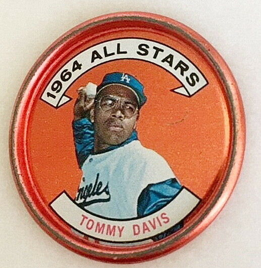 Tommy Davis 1964 Topps Coin #153 (Part of a series of 44 All Stars Coin)