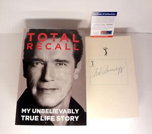 Arnold-Schwarzenegger-Signed-Autograph-Total-Recall-1st-Edition-Book-PSA-DNA-COA