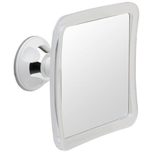 Mirrorvana Fogless Shower Mirror W/ Lock Suction-Cup, 6.3 x in