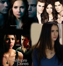 Boxed Vampire Diaries Elena Silverpt AB Crystal Vervain Locket Pendant Necklace