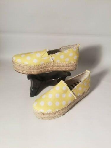 Betsey Johnson Flouncee Yellow & White Polka Dot J