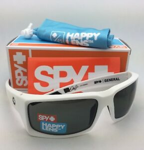 c7f524c221 New SPY OPTIC Sunglasses GENERAL Matte White Frame w  Happy Grey ...