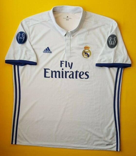 f85d48c39 5 5 Real Madrid jersey 2XL 2016 2017 home shirt AI5187 Adidas soccer ig93