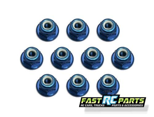 Team Associated MGT   Factory Team 3mm Aluminum Locknut (Blue) (10) ASC25392
