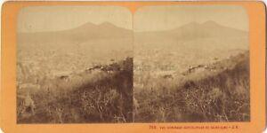 Napoli Panorama Italia Stereo J.Andrieu Parigi Albumina Ca 1870