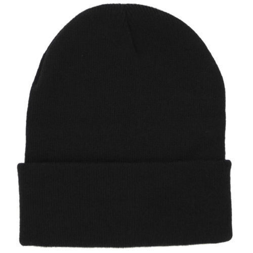 Cuff Beanie Plain Knit Hat Winter Warm Cap Slouchy Skull Ski Hats Men Women DC