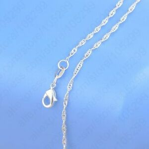 1pcs 18 inch 925 sterling silver plating water wave chain image is loading 1pcs 18 inch 925 sterling silver plating 034 aloadofball Image collections