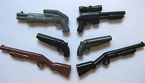 BrickArms SHOTGUN PACK 6 Guns Weapons for Minifigures SWAT FBI Military NEW