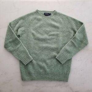 Ralph Lauren RL Wool Sweater Mens Small Made In Scottland